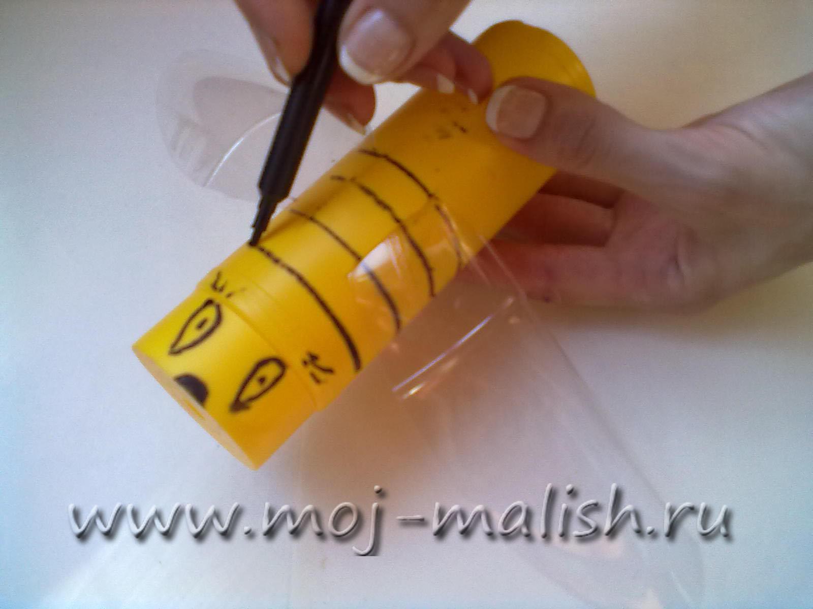 Как сделать пчелу из пластиковых бутылок пошагово с