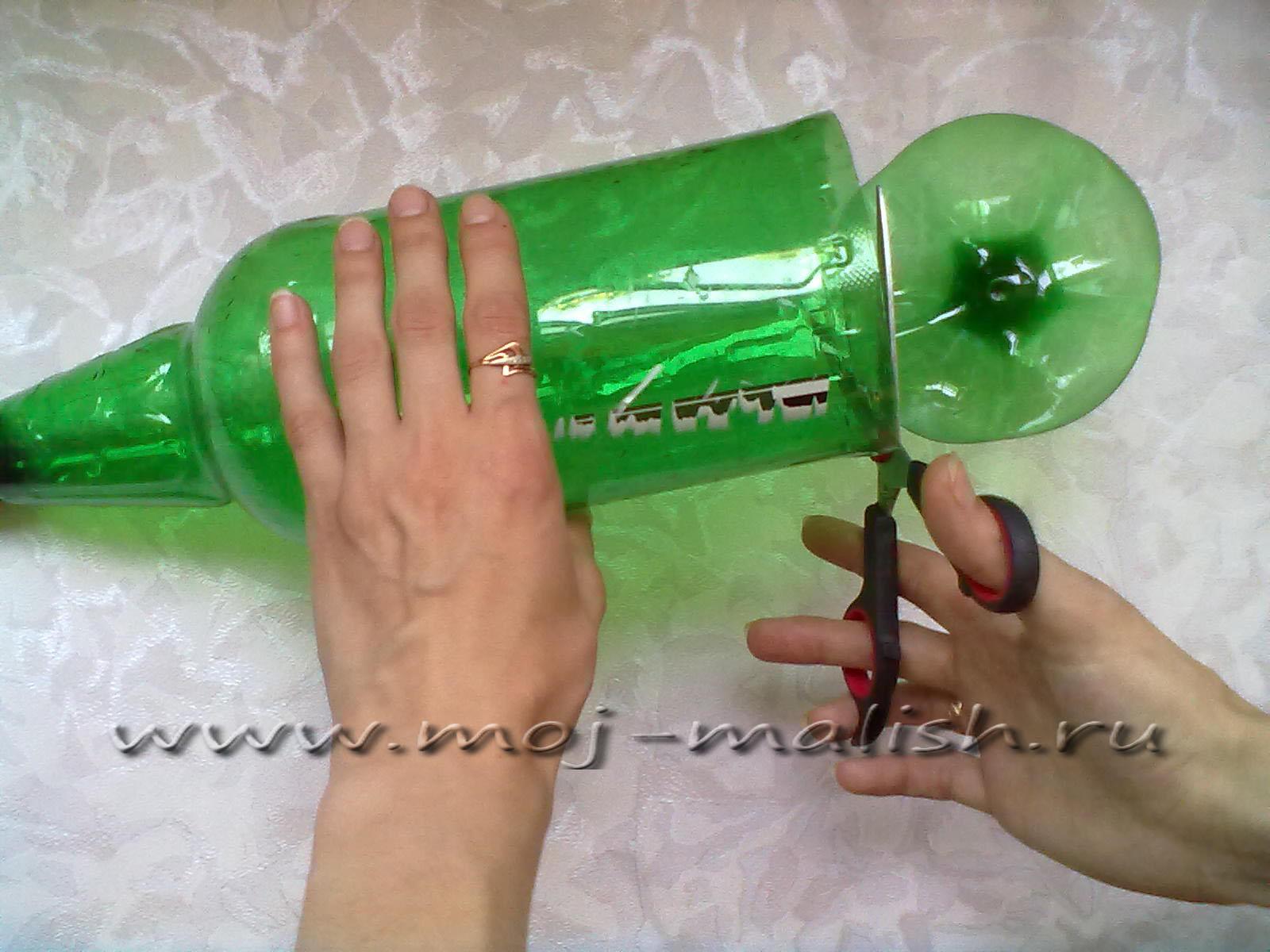 Кактус из пластиковых бутылок своими руками пошагово для начинающих