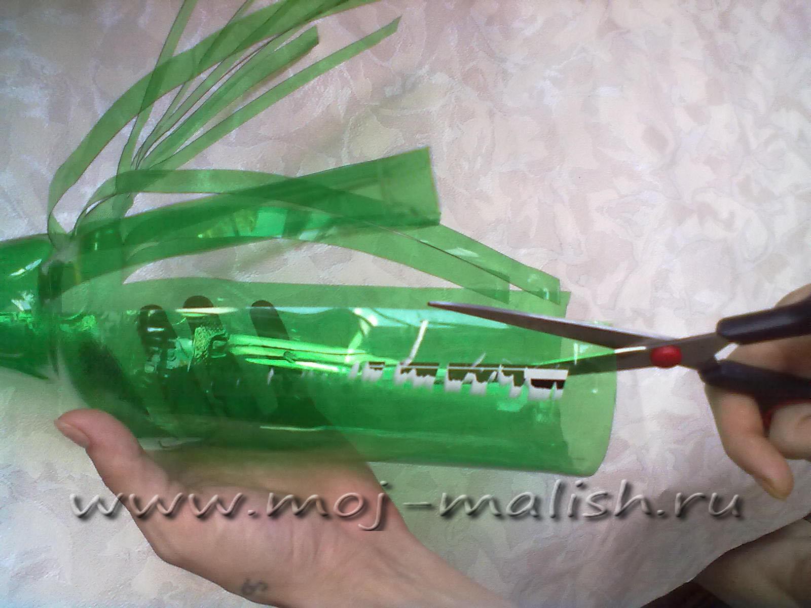 Шишка из пластиковых бутылок пошагово для начинающих