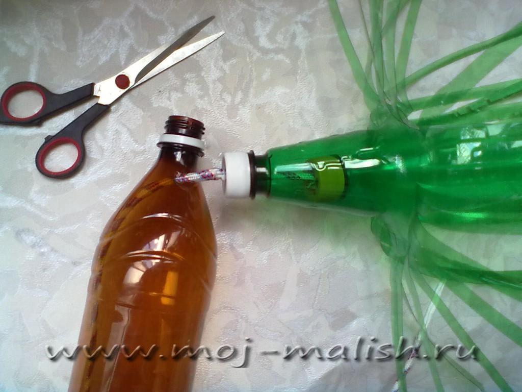 Как сделать банан из пластиковых бутылок