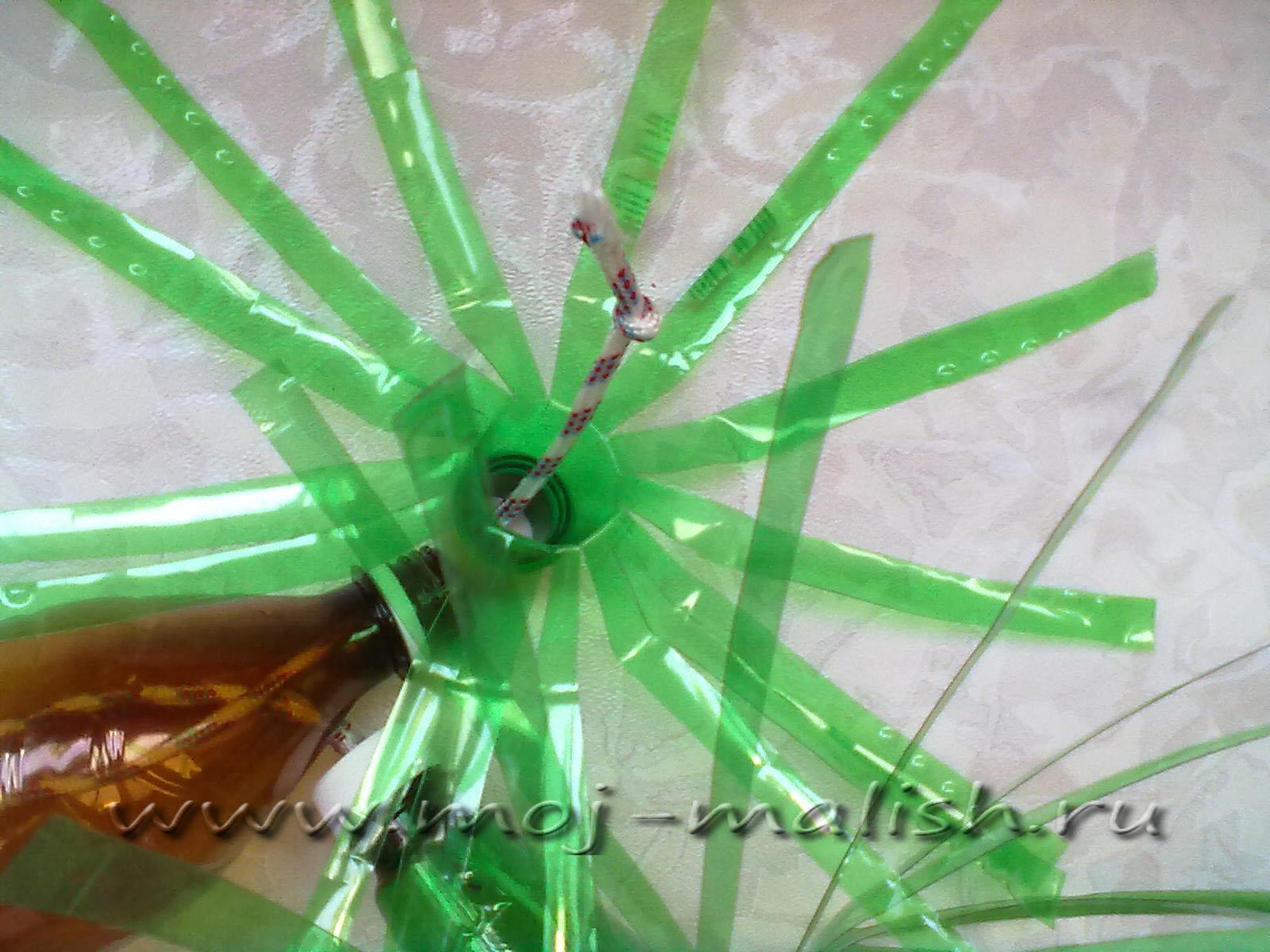 Как сделать пальму из пластиковых бутылок с фото пошаговое фото