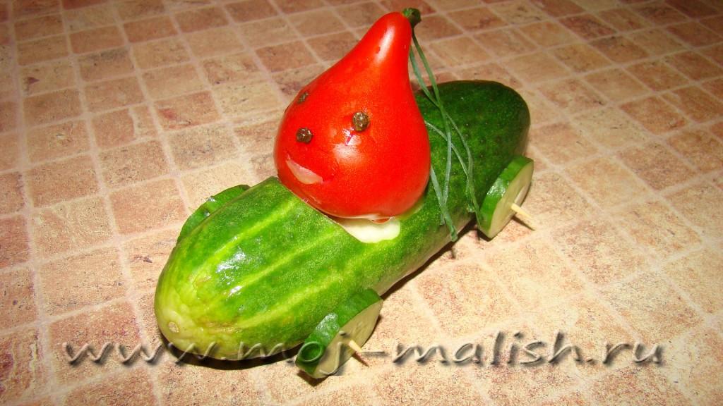 Как сделать домашние из овощ поделки
