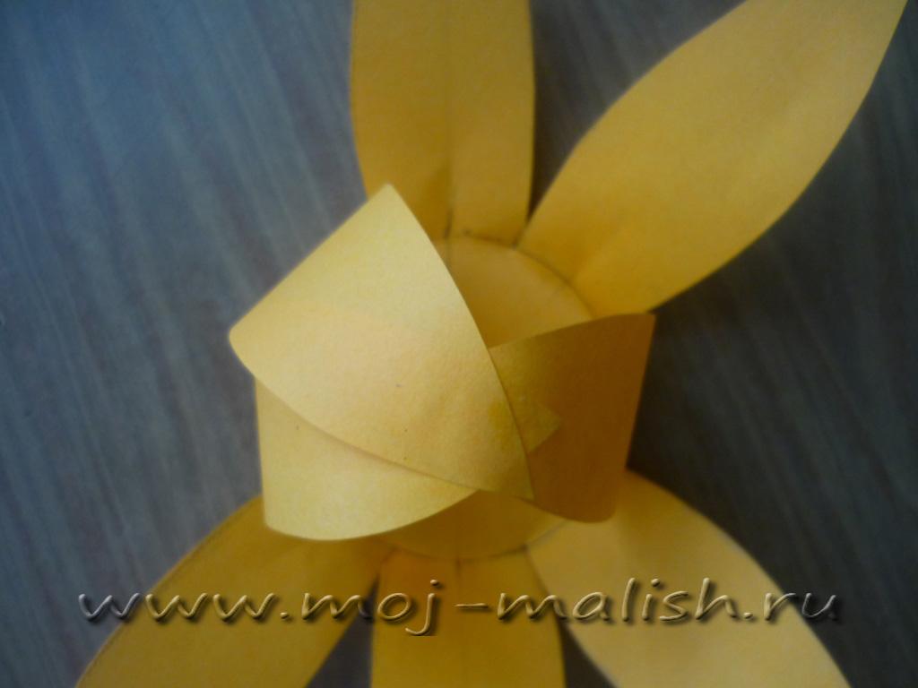 Как сделать объемную тыкву из бумаги