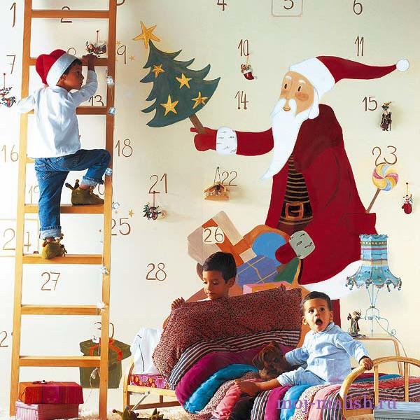 Как украсить детскую комнату на новый год?