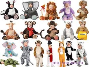 Детские новогодние костюмы для малышей