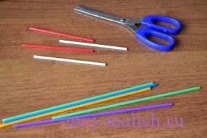Подготовим разноцветные палочки