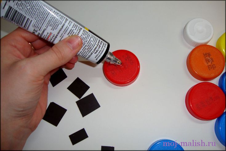 Пластиковые магниты своими руками