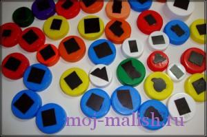 Разноцветная мозаика готова