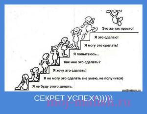 Секрет успеха!