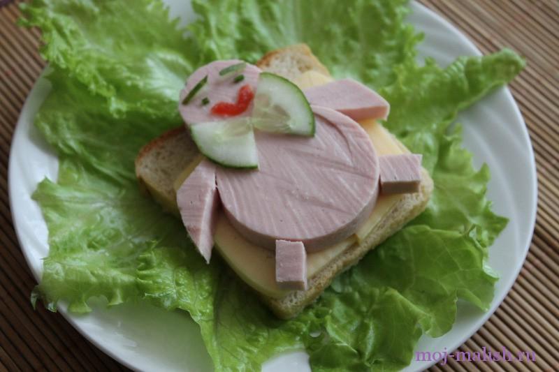 Вкусный детский бутерброд