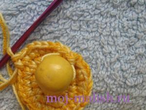 Добавляем бусину в вязание