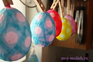 Пасхальные яйца из папье-маше