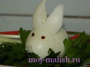Пасхальный кролик своими руками из яйца