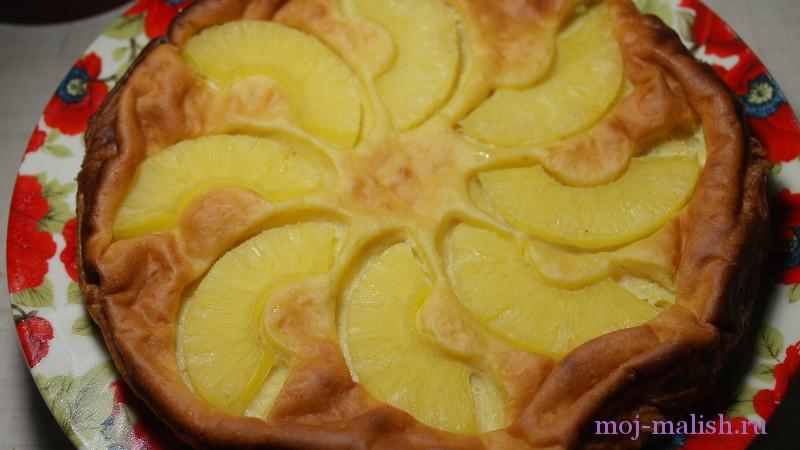 Творожная запеканка с ананасами