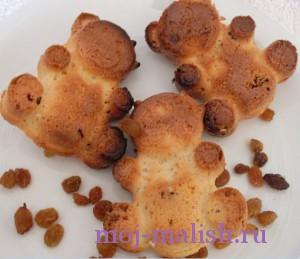 Кексы мишки Барни готовы