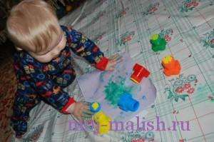 Детские рисунки пальчиковыми красками
