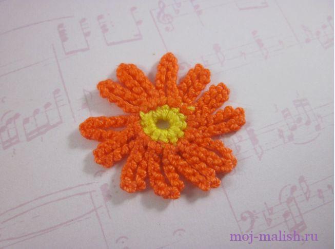 Мастер-класс вязание цветка