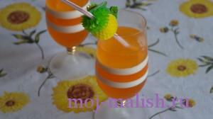 Желе из апельсинового сока готово