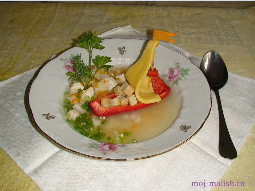 Как приготовить куриный суп для