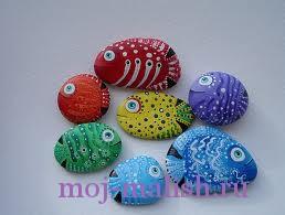 Детские поделки из камней
