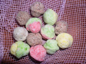 Шипучие шарики для ванны