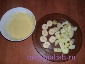 Готовим кляр и фрукты