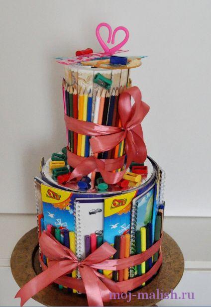 торт подарок первокласснику своими руками свечи являются символом